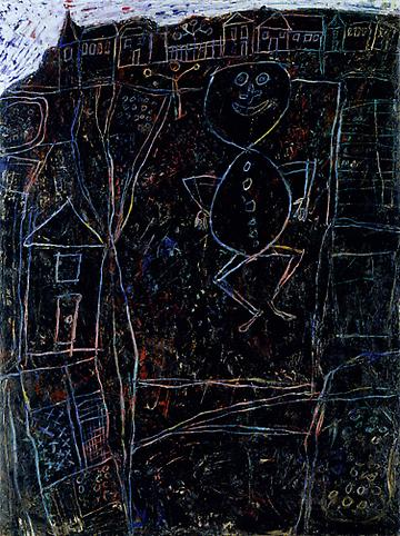Jean Dubuffet (1901-1985) Payson sautant sur son p...
