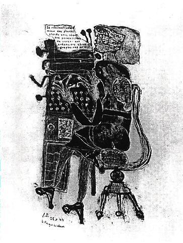 Jean Dubuffet (1901-1985) Dactylographe, 25 Octobe...