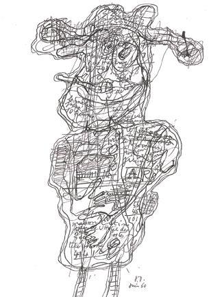 Jean Dubuffet (1901-1985) Personnage tireur de lan...