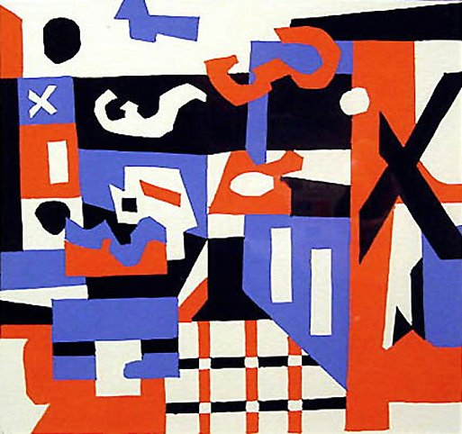 Stuart Davis Study for a Drawing, 1955 Serigraph 7...