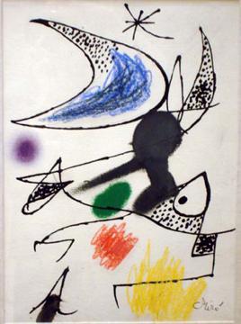 Joan Miró (1893-1983) Femme oiseaux dans la...
