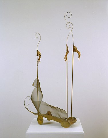 Fausto Melotti Anfibio, 1977 Brass and painted clo...