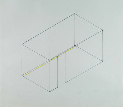Fred Sandback Untitled, 1968 Pencil and marker on...
