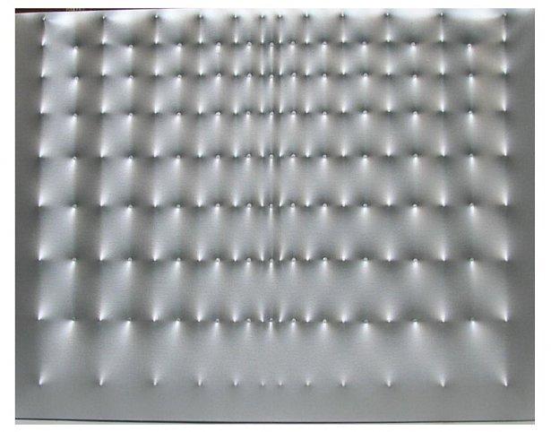 Enrico Castellani Superficie argento, 1975 Acrylic...