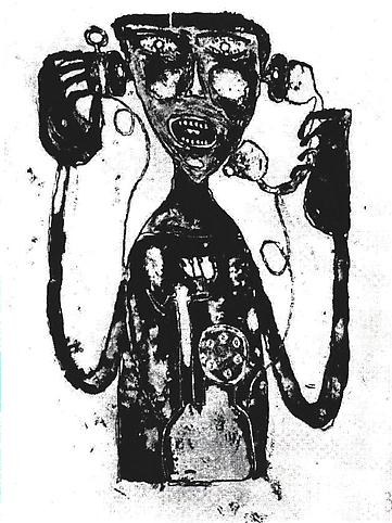 Jean Dubuffet (1901-1985) La supplice du té...