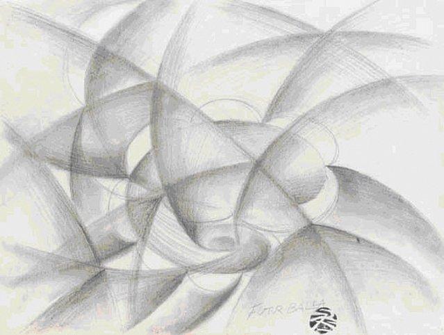 Giacomo Balla Vortice, 1913-1914 Pencil on paper 1...