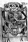 Jean Dubuffet (1901-1985) Mouleuse de café,...