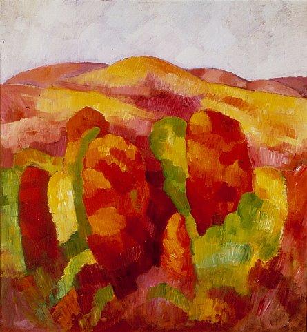Marsden Hartley Mountains, No. 19, 1930 Oil on boa...