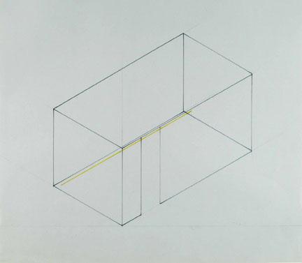 Fred Sandback (1943-2003) Untitled, 1968 Pencil an...
