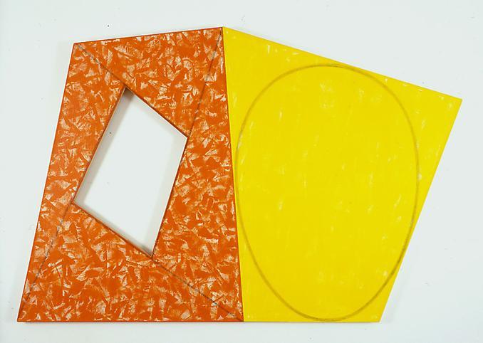 Robert Mangold (b. 1937) Red Frame/Yellow Ellipse...