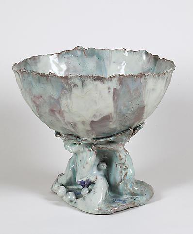 Coppa 1951 Glazed polychrome ceramic 8 5/8 x 9 7/8...