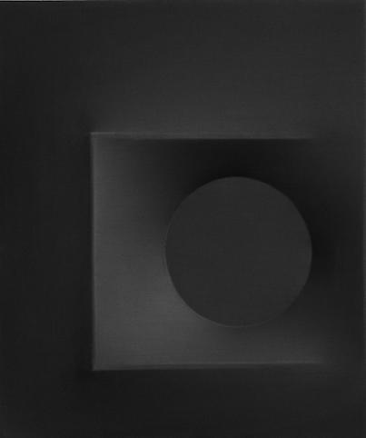 Nero 1967 Vinyl tempera on shaped canvas 24 x 20 i...