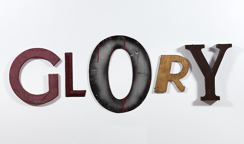 Jack Pierson (b. 1960) GLORY, 2009 Metal, wood, an...