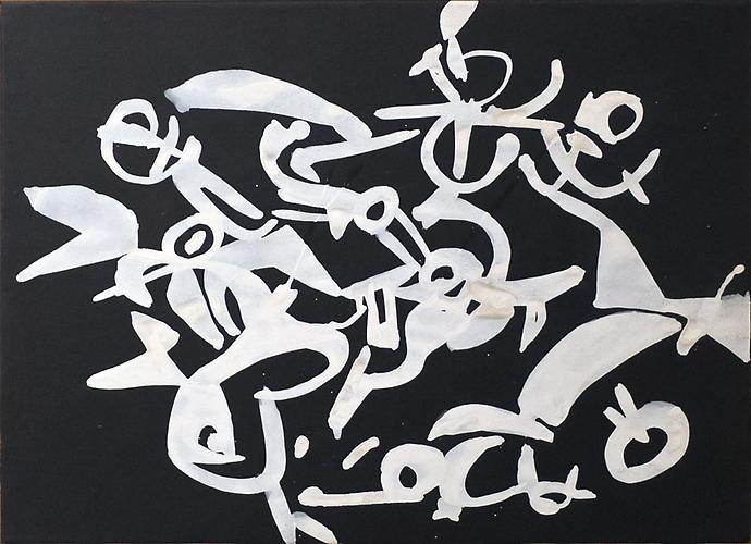 Carla Accardi (b. 1924) Bianco su carta nera, 1954...