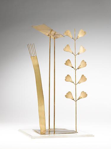 Virgulto 1973 Brass 14 1/8 x 8 x 5 1/8 in; 36 x 20...