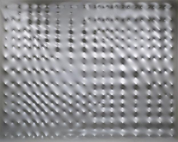 Enrico Castellani (b. 1930) Superficie argento, 20...