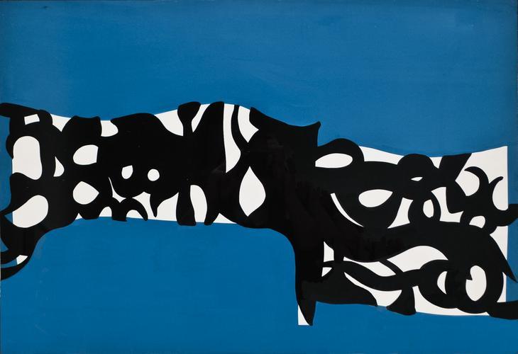 Carla Accardi, Bianco nero su turchese,1960,...