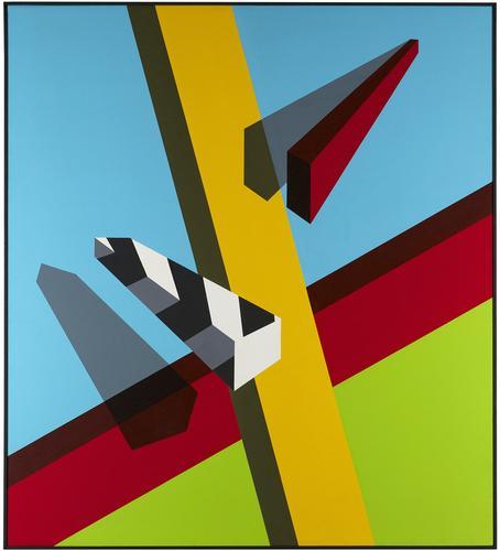Allan D'Arcangelo (1930-1998) Landscape, 1968...