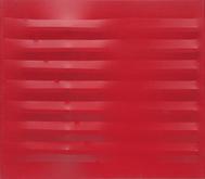 Agostino Bonalumi (1935-2013) Rosso 1982 Vinyl tem...