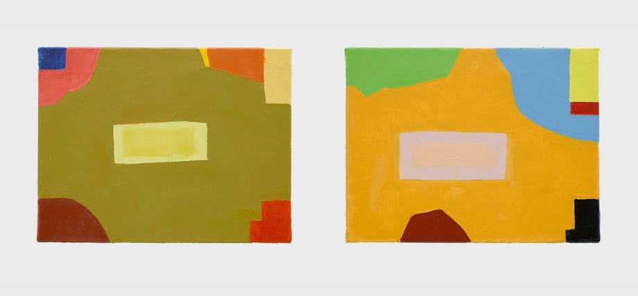 Etel Adnan, Untitled, 2014, Oil on canvas, Each: 1...