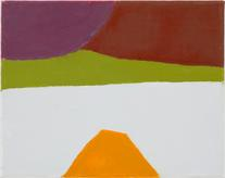 Etel Adnan, Untitled, 2014, Oil on canvas, 9 1/2 x...