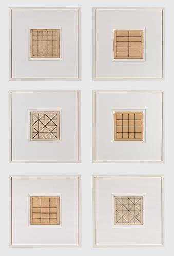 Jan J. Schoonhoven, Untitled (Six Drawings), 1966,...