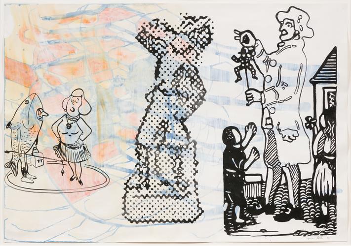 Sigmar Polke, Untitled, 1992, Acrylic and gouache...