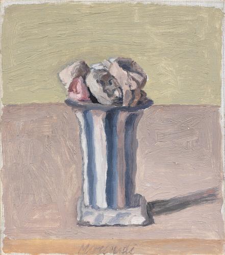 Giorgio Morandi (1890-1964) Fiori 1950 Oil on canv...