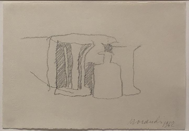 Giorgio Morandi (1890-1964) Natura morta 1962 Penc...