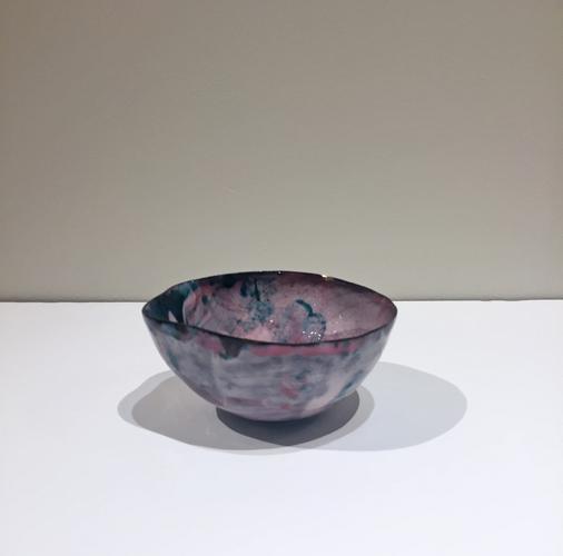 Coppetta c. 1960 Polychrome glazed ceramic 2 1/2 x...