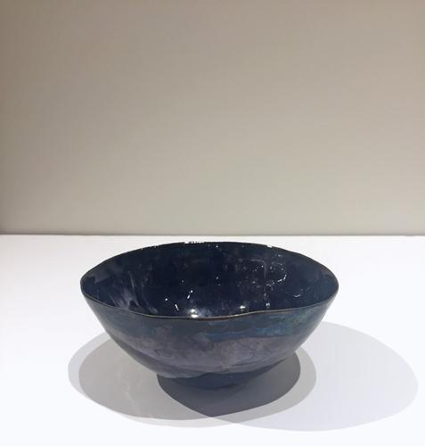 Coppetta blu c. 1955 Polychrome enameled ceramic 2...