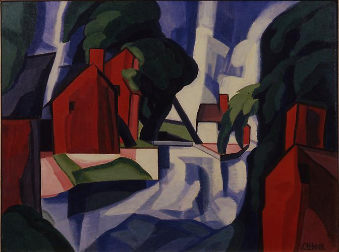 Oscar Bluemner (1867-1938) Blue Day 1930 Casein on...