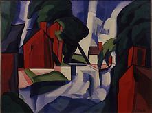 Oscar Bluemner (1867-1938) Blue Day 1930 Casein on...