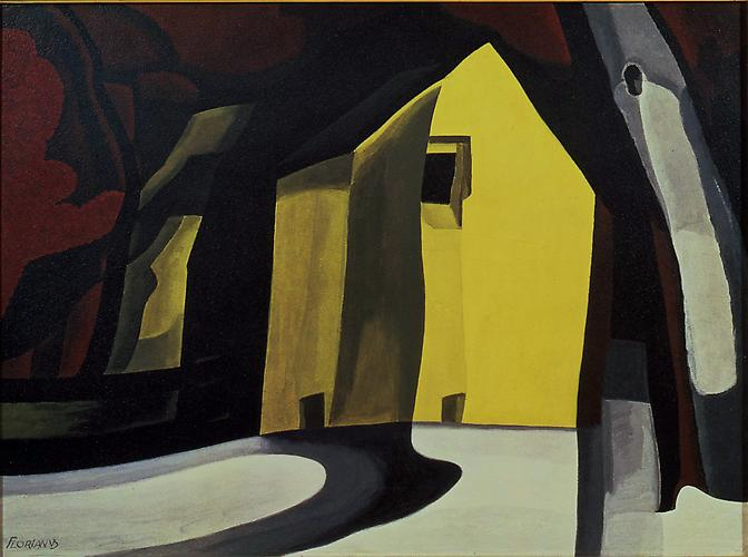 Oscar Bluemner (1867-1938) Black by Gold 1934 Case...