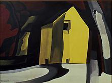 Oscar Bluemner (1867-1938) Black by Gold 1934 Case...