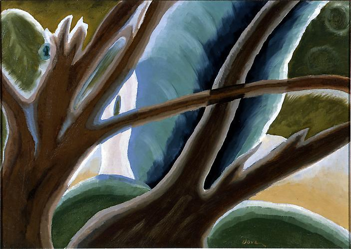 Arthur Dove (1880 - 1946) Two Brown Trees 1933 Oil...