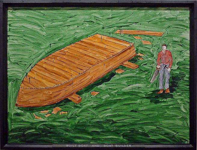 Neil Jenney (b. 1945) Built Boat and Boat Builder...