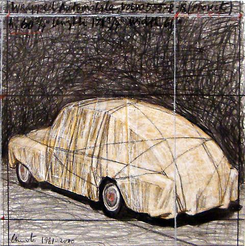 Christo (b. 1935) Wrapped Automobile, Volvo 555-B-...