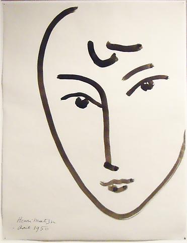 Henri Matisse (1896-1987) Visage, 1950 Brush and I...
