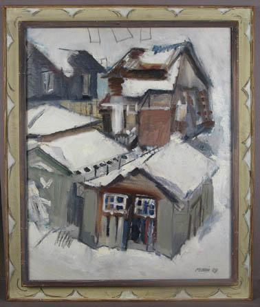 John Marin (1870-1953) Winter, From My Back Window...
