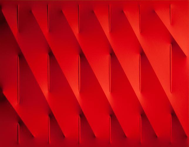 Agostino Bonalumi (b. 1935) Rosso, 2009 Vinyl temp...
