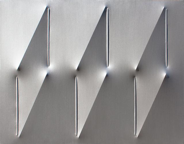 Agostino Bonalumi (b. 1935) Argento, 2012 Acrylic...
