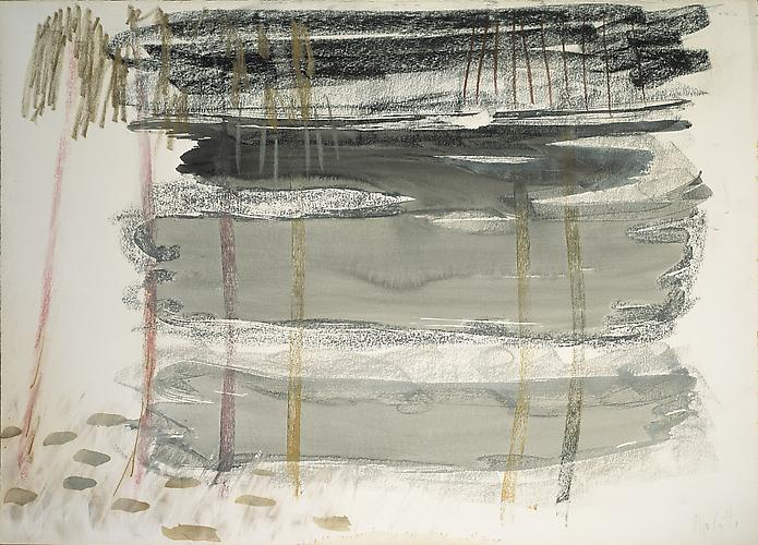Untitled 1964 Mixed media on paper 19 3/4 x 27 1/2...