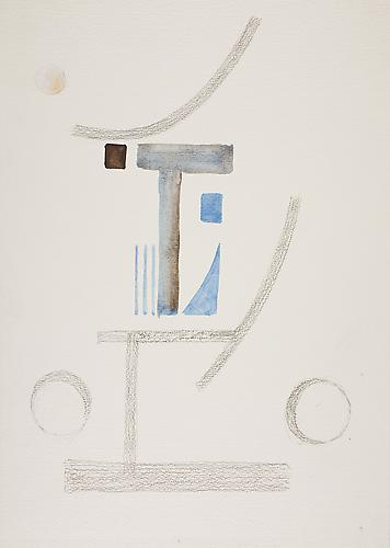 Untitled c. 1975 Tempera and pencil on cardboard 1...