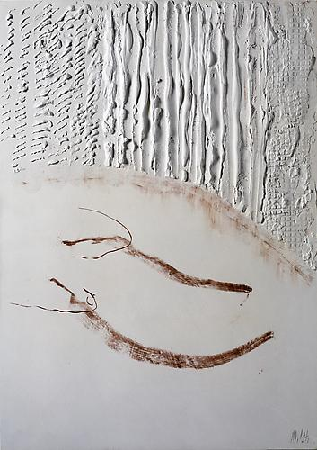 Untitled 1979 Plaster and mixed media 23 1/4 x 16...
