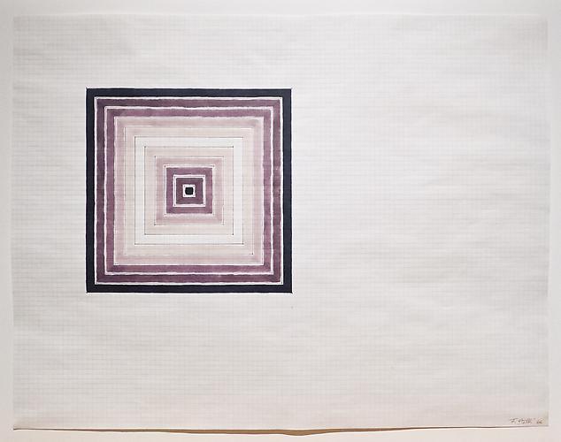 Frank Stella (b. 1936) Black-White-Black Sketch, 1...