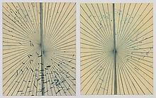 Mark Grotjahn (b. 1968) Untitled (Solid Cream Butt...