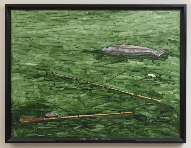 Neil Jenney (b. 1945) Fish and Pole, 1969 Acrylic...