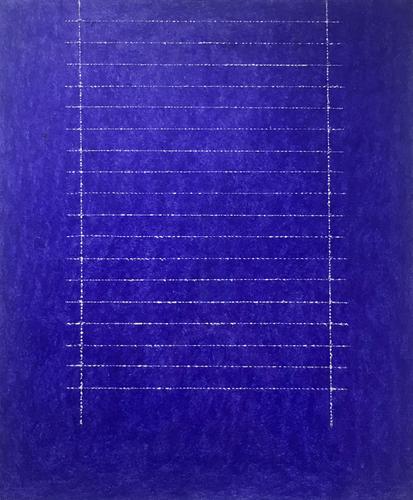 Edda Renouf, Night Letter - 8, 2011, Incised oil p...