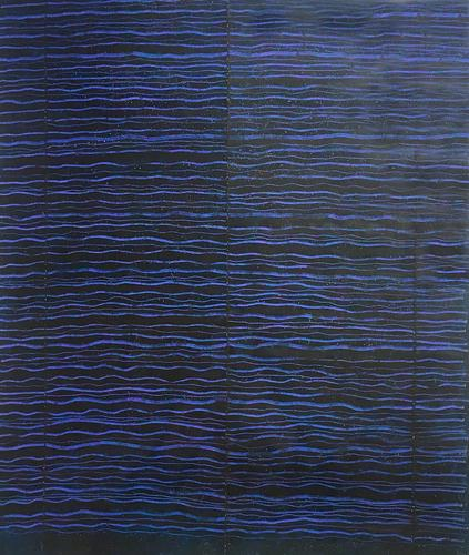 Edda Renouf, Night Letter - 12, 2013, Incised oil...